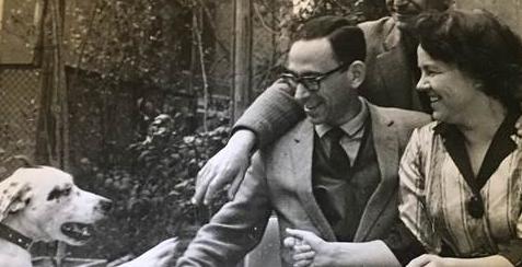 Francis Haskell with Larissa Salmina Haskell, 1966